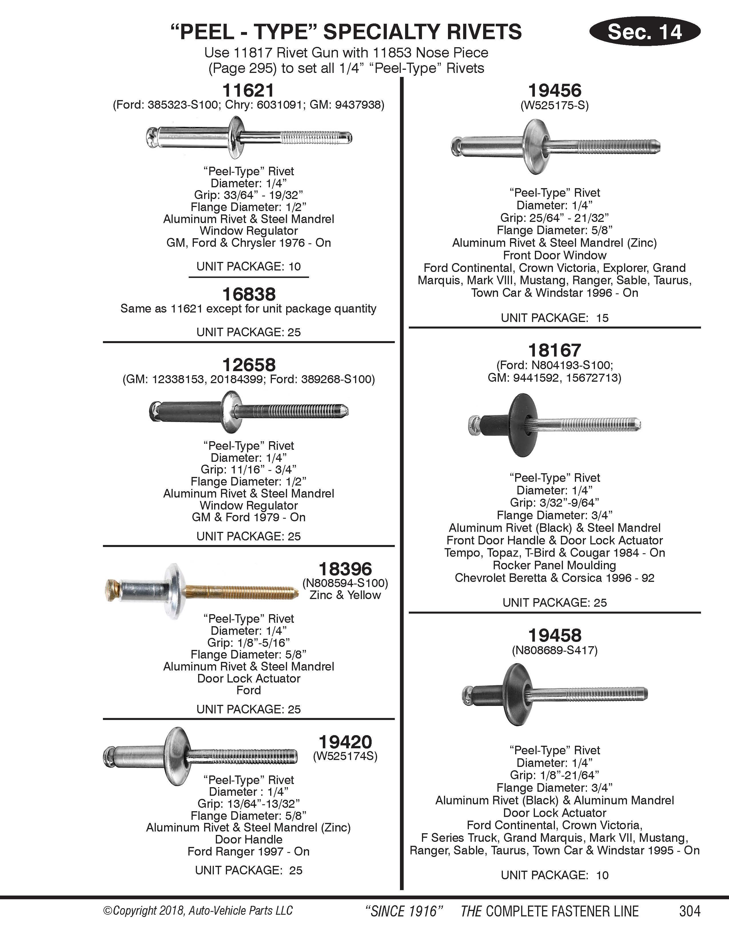 Auveco Catalog Page